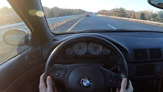 2001 BMW E39 M5 Highway Drive POV - Binaural Audio