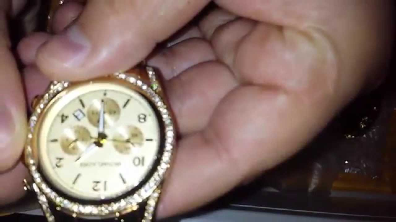 Unboxing MICHAEL KORS gold watches Luxury  /Распаковка часы   MICHAEL KORS aliexpress
