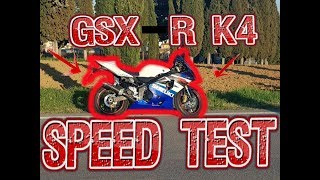SUZUKI GSXR 600 K4 Speed TEST #120