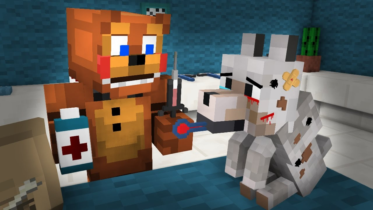FNAF  Monster School: Veterinary Dog Rescue! - Minecraft Animation