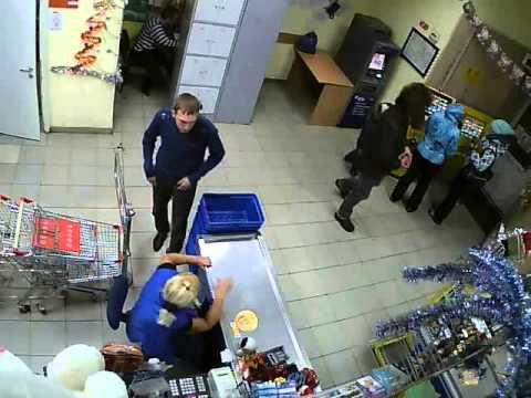 Будни в Супермаркете- Троя Красноярск Спутник часть 1