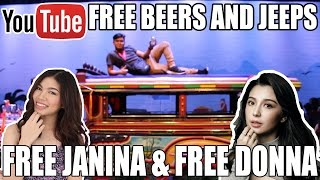 EVERYTHING IS FREE ON #YoutubeSpaceMNL FREE JEEP FREE JANINA, FREE DONNALYN