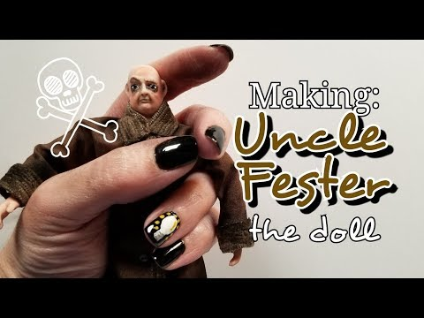 Making UNCLE FESTER in miniature for my Addams Family Mansion, 1:12 scale doll