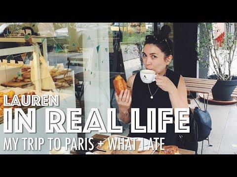 MY TRIP TO PARIS + WHAT I ATE (VEGAN) | Lauren In Real Life