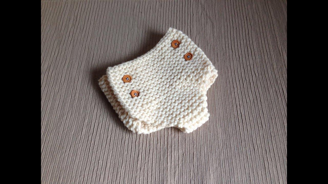Cómo tejer con telar unos pantalones para bebé - cubre pañales ...