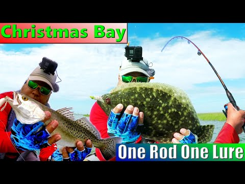 Kayak Fishing Outside Of Galveston At Christmas Bay | One Rod KastKing | One Lure Challenge