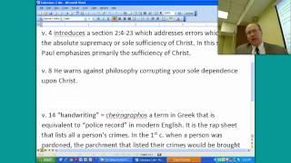 Prison Epistles - Colosians 2:1-3:9