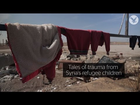 Tales of trauma from Syria's refugee children