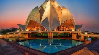 The Bahai house of worship   Lotus temple Delhi   A must visit place in Delhi