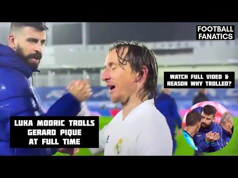 Luka Modric trolled Gerard Pique after Real Madrid wins 2-1 Barcelona.   El Clasico  Toni Kross