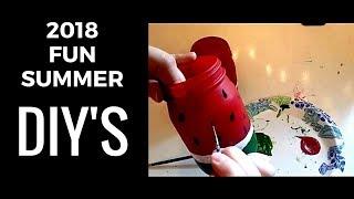 DIY Summer Room Decor 2018: 5 Easy, Fun, and Colorful DIY