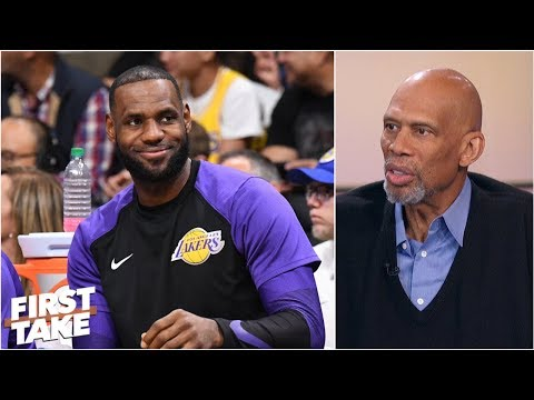 Kareem AbdulJabbar high on LeBron James arrival, Lakers expectations  First Take