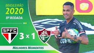 SÃO PAULO 3 X 1 FLUMINENSE | MELHORES MOMENTOS | 8ª RODADA BRASILEIRÃO 2020 | ge.globo