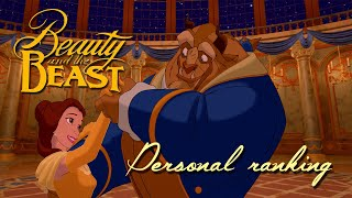 Personal ranking - Beauty and the Beast (Pop version)