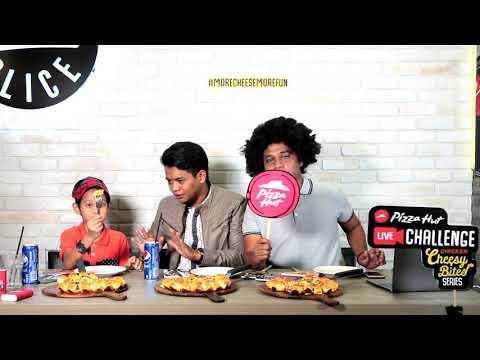 PIZZA HUT CHEZY BITE LIVE CHALLANGE - zukie oyot & kamal