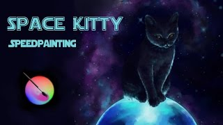 Guardian of his Galaxy | Space Kitty Speedpainting | Krita