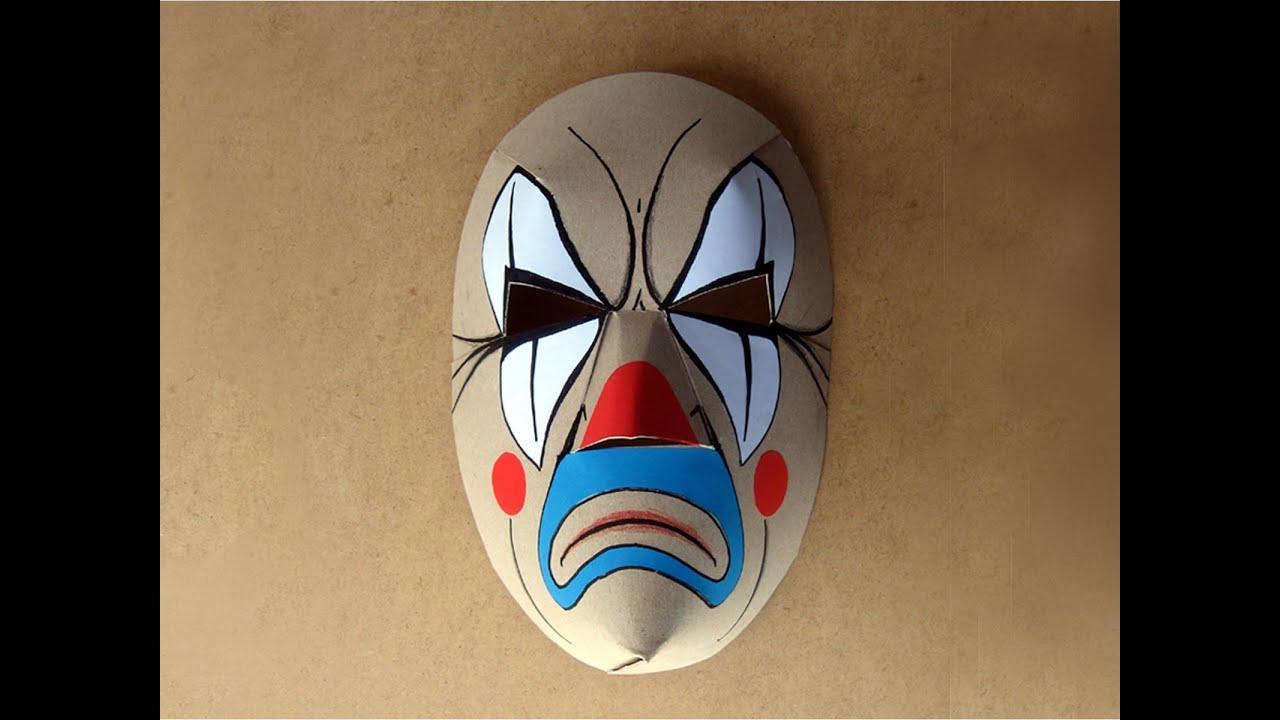 059abce9c8 Como hacer una máscara de cartón. Educación Plástica. - YouTube