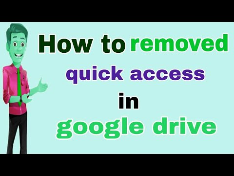 #google #drive How to removed quick access in google drive || in telugu by Rakesh