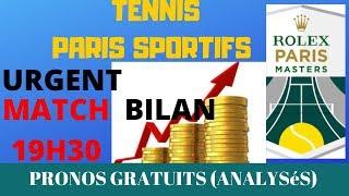 PARIS SPORTIFS : PRONOS TENNIS HOMME PARIS MASTER