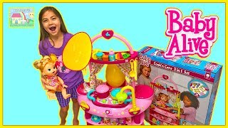 Baby Alive Doll and Kitchen Toy with High Chair! Surprise Toys Egg