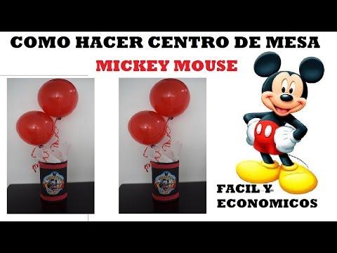 COMO HACER CENTRO DE MESA MICKEY MOUSE FACIL