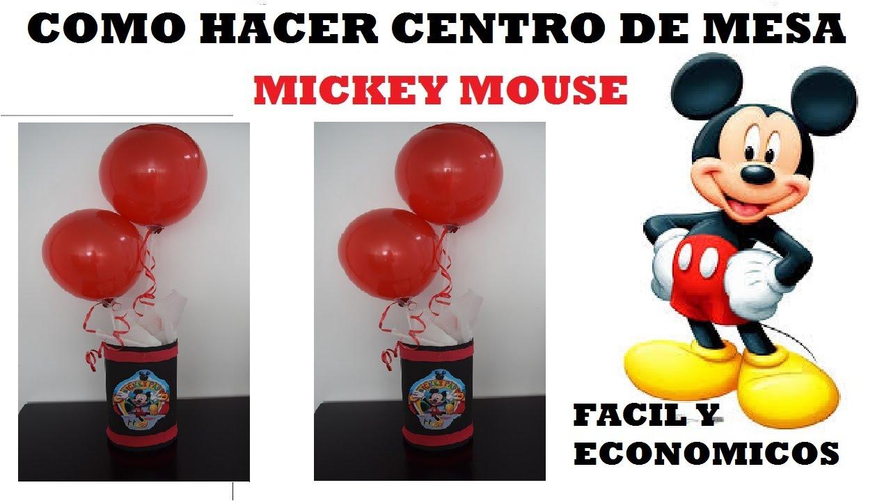 Como hacer centro de mesa mickey mouse facil youtube Hacer mesa de centro facil