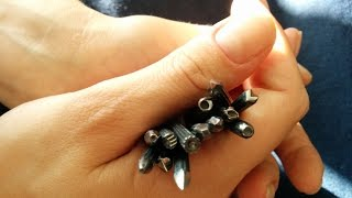 How to Make Metal Stamps from Nails, DIY Jewelry Decorating Tool, Chevron Stamp