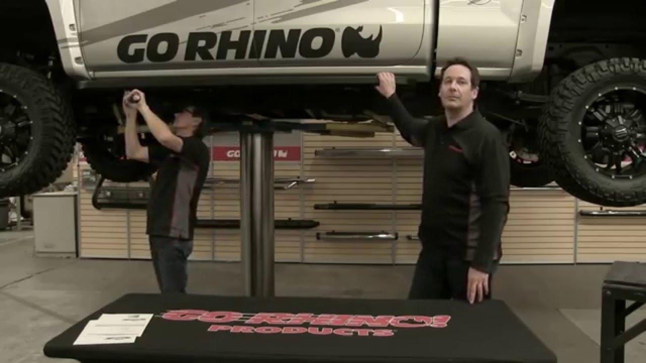 Go Rhino RB10 Raptor-Style Running Board Installation 2015 ...