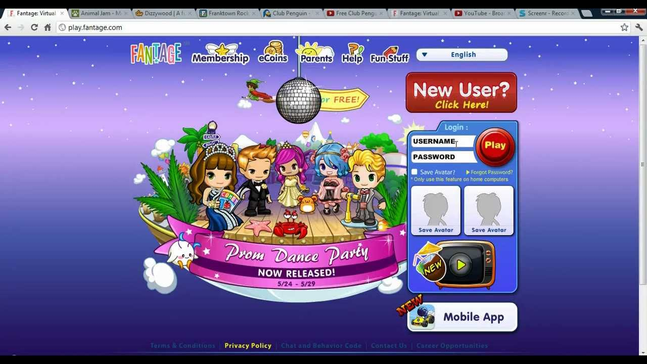 fun online login games