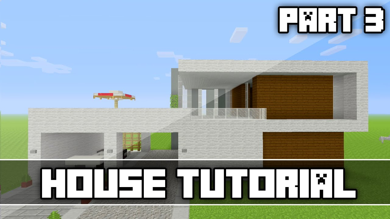Minecraft easy modern house tutorial part 3 xbox one 360 for Modern house tutorial xbox