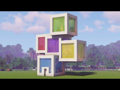 Кубический дом в майнкрафте
