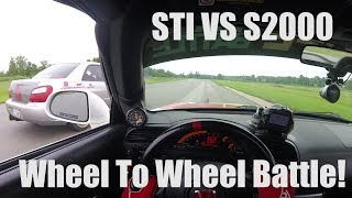 WHEEL TO WHEEL BATTLE! STI VS S2000 Gridlife Gingerman