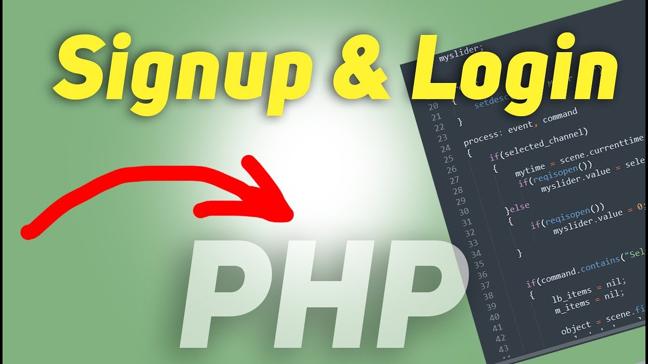 Simple Signup and Login System with PHP and Mysql Database   Full Tutorial