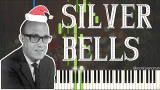 Jay Livingston - Silver Bells (Solo Jazz Piano Synthesia) [Christmas Jazz 🎅]
