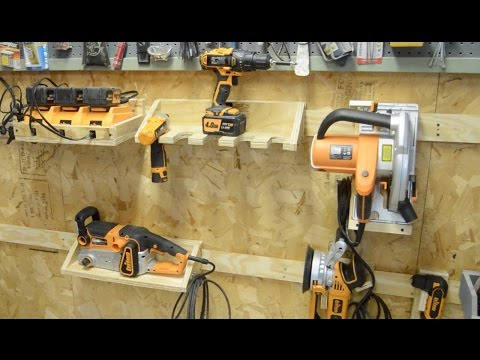 Building a French Cleat System for Power Tools