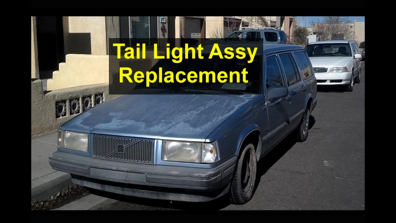 small resolution of tail light assembly replacement volvo 740 v90 960 940 etc votd