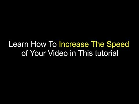 How to change the speed of video