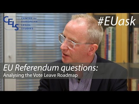 EU Referendum questions: Analysing the Vote Leave Roadmap