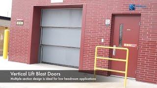 Vertical Lift Blast Doors From Door Engineering