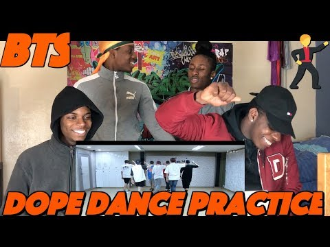 BTS - DOPE (Dance Practice) HD - REACTION