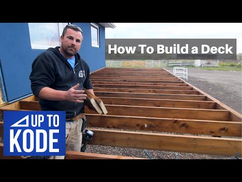 How to Build a Deck From Start to Finish