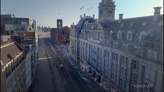 Amsterdam empty streets during lockdown coronavirus (COVID-19)
