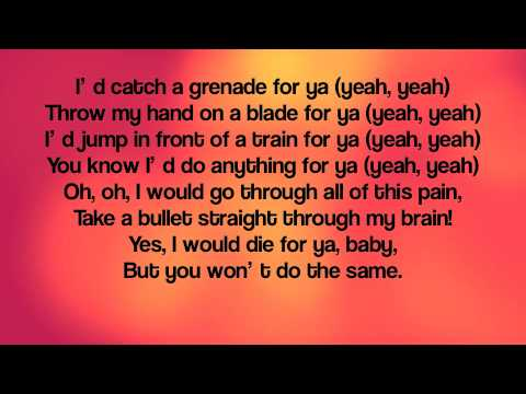 Songtext von Bruno Mars - Grenade Lyrics