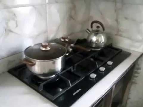 Kompor gas tanam modena youtube for Kitchen set kompor tanam