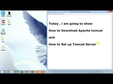 How to set up Environment variables for apache tomcat