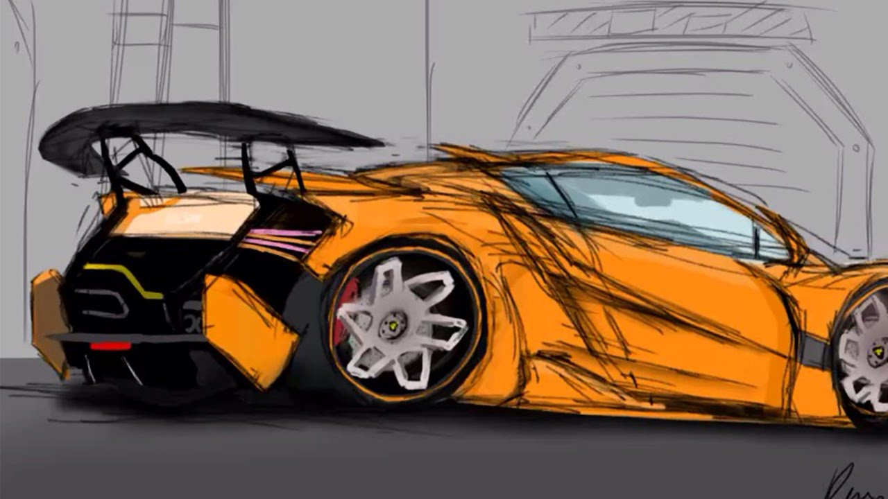 Lamborghini Concept Tutorial Time Lapse Youtube