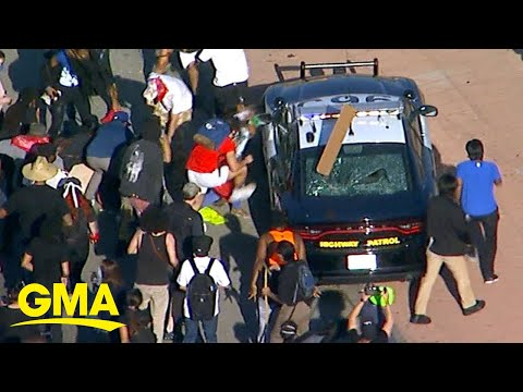 Protests turn deadly over black man who died in police custody l GMA