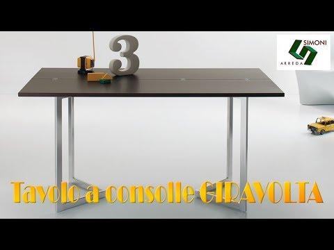Tavolo Consolle Giravolta.Tavolo Consolle Apertura Libro Giravolta Youtube