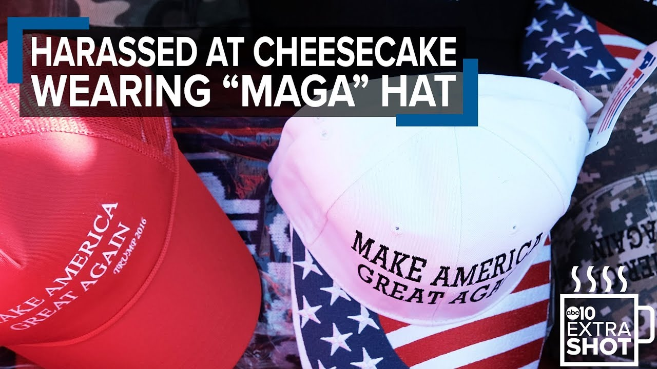 19f60e7ea5c Black man wearing MAGA hat harassed at Cheesecake Factory - YouTube