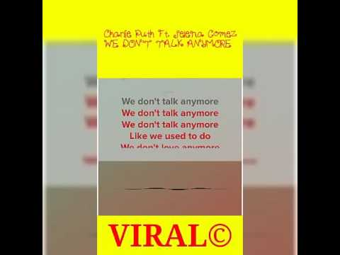 Viral© - WE DON'T TALK ANYMORE (KARAOKE SPECIAL EDITION)